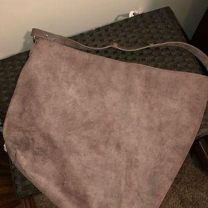 Old Navy Brown Suede Tote Bag